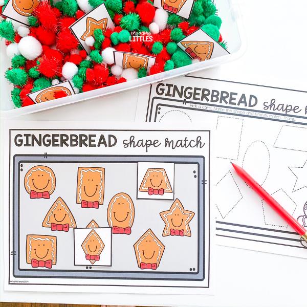 gingerbread shape activities for preschool