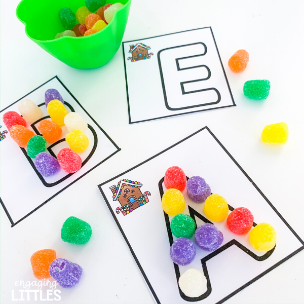 gingerbread theme letters