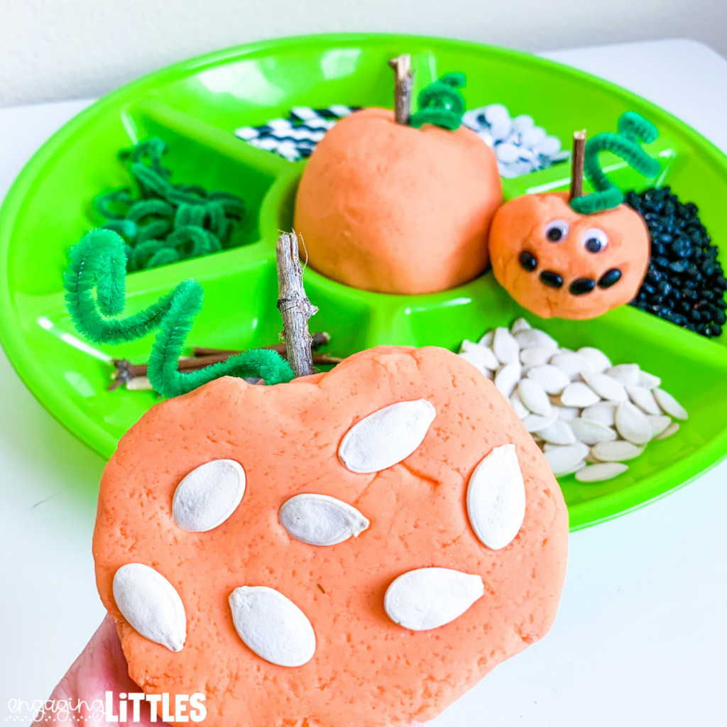 pumpkin play dough