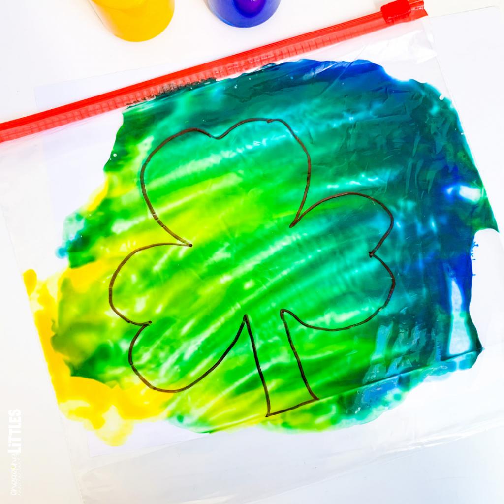 Shamrock Color Mixing Activity