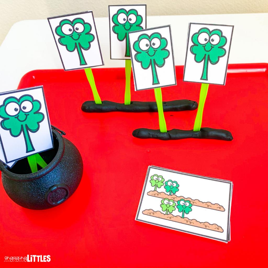St. Patricks Day centers for preschool