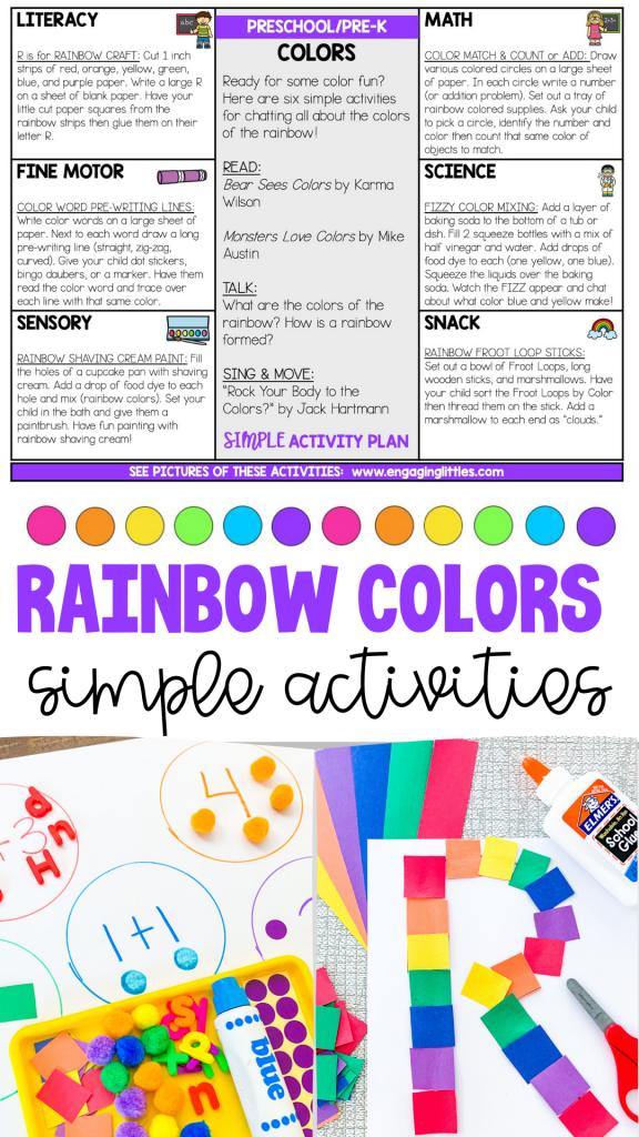 rainbow color activities for preschoolers