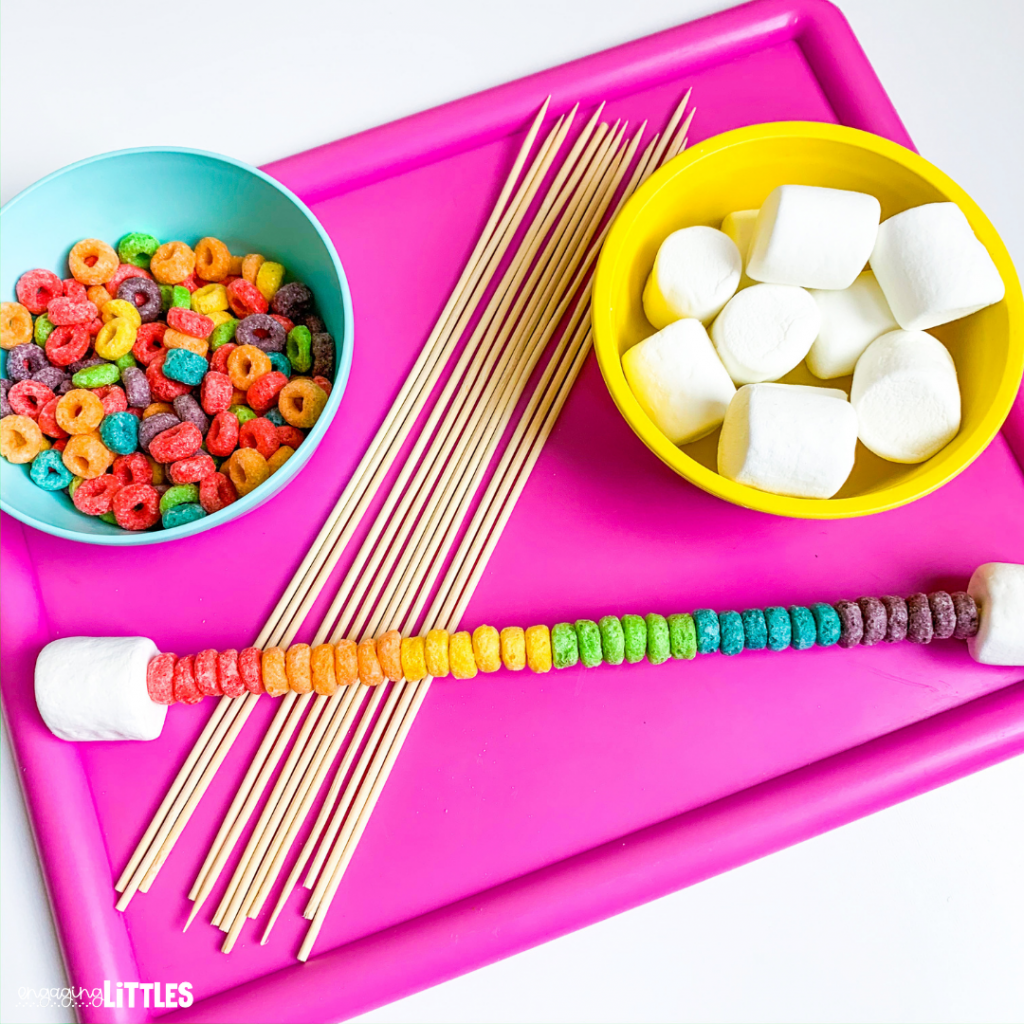 rainbow colors kids snack activity