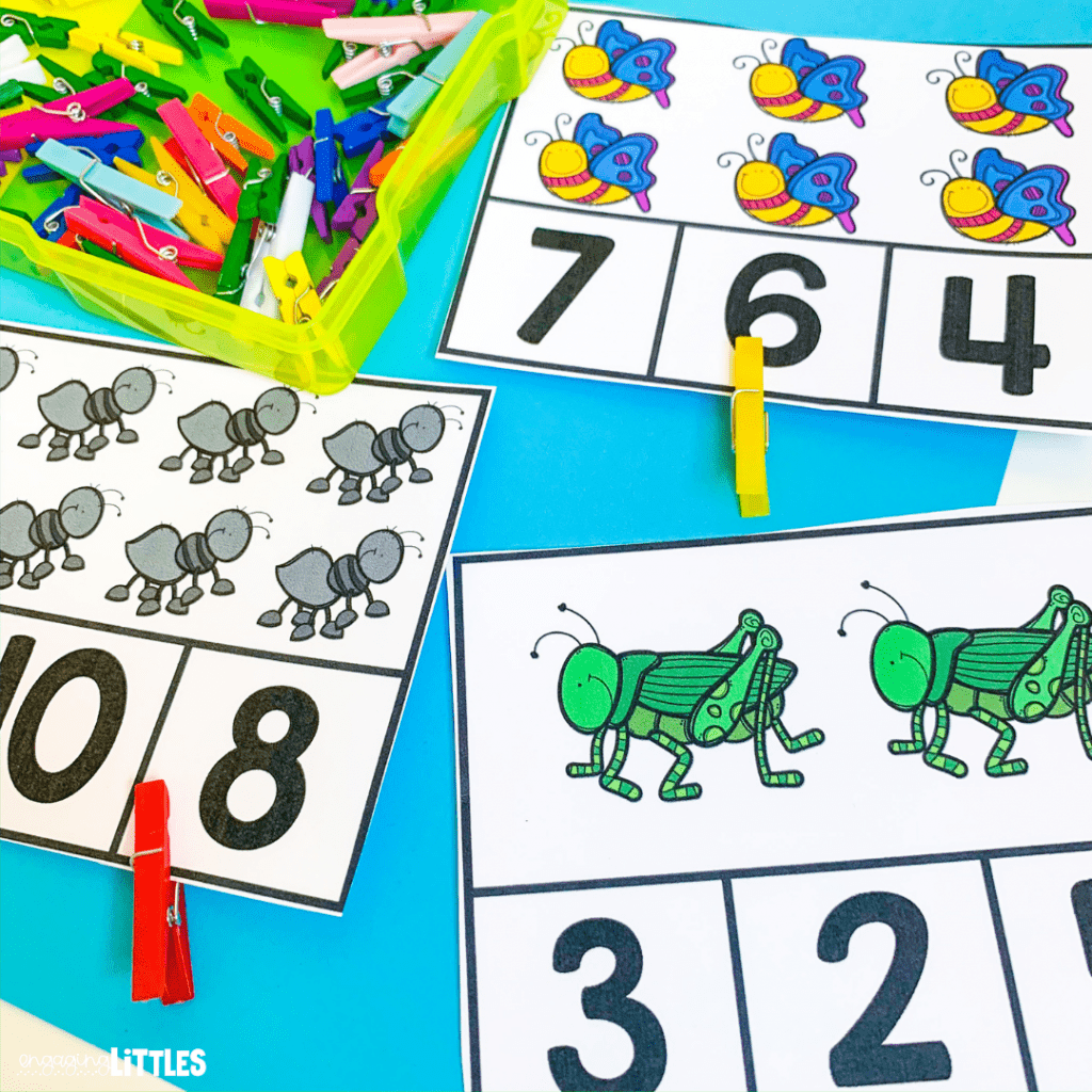 insect math centers for peek