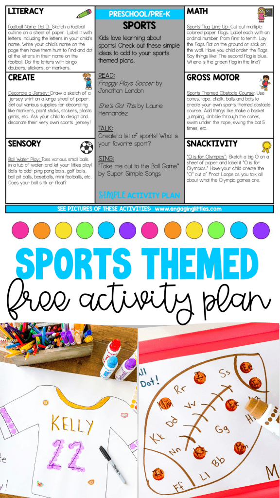 sports themed activity plan